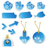 Vector set of winter stickers and tags Stock Photos