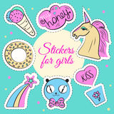 Vector Set With Unicorn Royalty Free Stock Photography