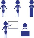 Set of woman business icons Royalty Free Stock Photography