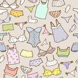 Vector set with woman panty and lingerie Stock Photo