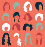 Vector Set: Womans Hair Styles Royalty Free Stock Images
