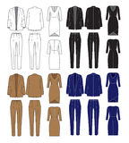 Vector set of women's clothes Stock Photography