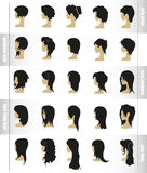 Vector set of women's hairstyles and haircuts Stock Image