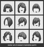 Vector set of women's hairstyles Stock Photography