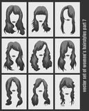 Vector set of women's hairstyles Stock Images