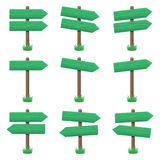 Vector set of wooden arrow signs Royalty Free Stock Photography