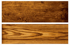 Vector set of wooden banners Stock Image