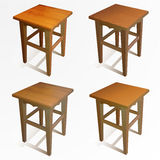 Vector set of wooden chairs Stock Photography