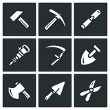 Vector Set of Work Tools Icons. Stock Image