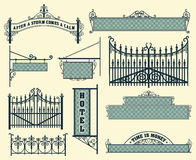 Vector set: wrought iron wicket Royalty Free Stock Images