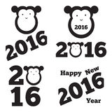 Vector set of 2016 year. Stickers Stock Photo