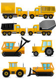 vector set yellow construction machines Royalty Free Stock Photography