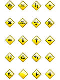 Vector set of yellow signs Stock Image