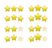 Vector sets of simple yellow stars Royalty Free Stock Photography