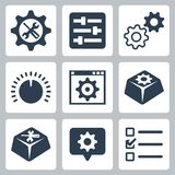Vector settings icons set Royalty Free Stock Image
