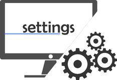 Vector - settings Stock Images