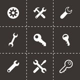 Vector settings wrench icons set Stock Image