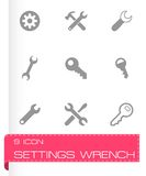 Vector settings wrench icons set Royalty Free Stock Photography