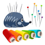 Vector sewing accessories Royalty Free Stock Image