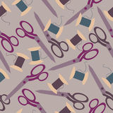 Vector sewing background Royalty Free Stock Photos