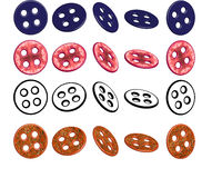 Vector sewing buttons set stock photo