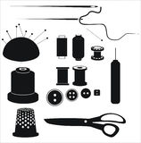 Vector sewing equipment. Royalty Free Stock Image