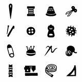 Vector Sewing icon set Stock Photo