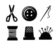 Vector sewing icons Royalty Free Stock Images