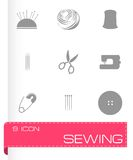 Vector sewing icons set Stock Photo
