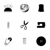 Vector sewing icons set Stock Photos