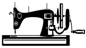 Vector sewing machine on white Stock Photos