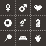 Vector sex icon set Royalty Free Stock Photography