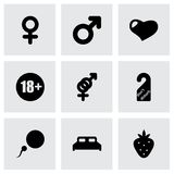 Vector sex icon set Royalty Free Stock Photos