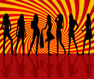 Vector sexy woman silhouettes Royalty Free Stock Image