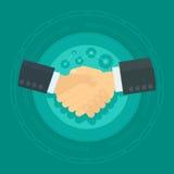 Vector shaking hands vector illustration