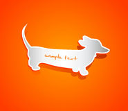 Vector shape of dachshund Stock Images