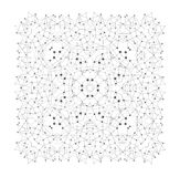 Vector Shape, Molecular Structure with Lines and Dots Stock Photo