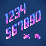 Vector shapes Digits collected Stock Photography