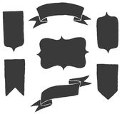 Vector shapes set Royalty Free Stock Photos