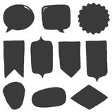 Vector shapes set Royalty Free Stock Image