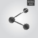 Vector Share icon in scribble style Royalty Free Stock Photo