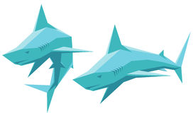 Vector shark Royalty Free Stock Photos