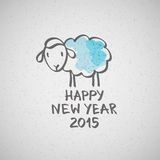 Vector sheep. Vector hand drawn sheep, happy new year 2015 Vector Illustration