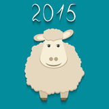 Vector sheep - symbol of 2015 Stock Image
