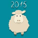 Vector sheep - symbol of 2015 Stock Image
