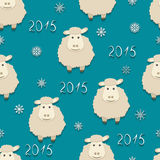 Vector sheep - symbol of 2015. Seamless vector illustration of the sheep, the symbol of 2015 Stock Photos