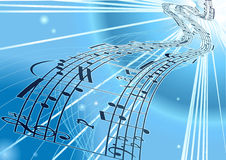 Vector Sheet music background Royalty Free Stock Images