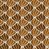 Vector Shell Abstract Seamless Pattern Art Deco Style Background Textura geométrica Foto de archivo libre de regalías