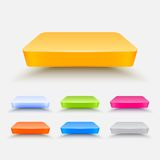 Vector shelves. Colored vector shelves pack. This is file of EPS10 format Stock Images