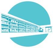 Vector shelves in store. supermarket. Stock Image